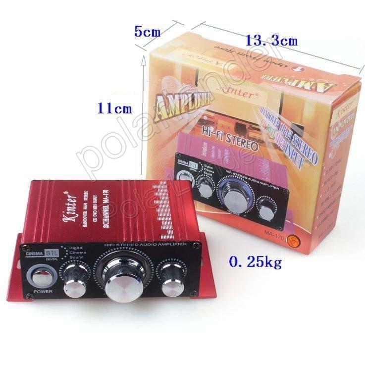 Mini 2 Canais potência de saída amplificador