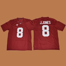 0d0363d2a Men s Alabama Crimson Tide Julio Jones 8 College Football Jerseys - White  Red Black Stitched Size