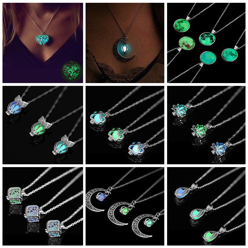 Night Luminous Beads Pendant Necklace 2019 New Ladies Necklace Jewelry