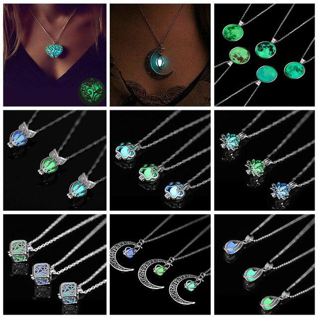 Ночные светящиеся бусины кулон ожерелье 2019 новое ожерелье для женщин ювелирные изделия