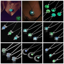 Night luminous beads pendant necklace 2019 new ladies necklace jewelry cheap VKME Zinc Alloy Women Pendant Necklaces TRENDY Link Chain Animal All Compatible Other(Other) Displayed in the picture Fashion