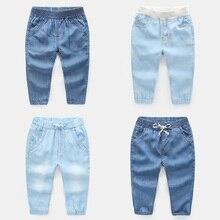 Противомоскитные штаны для мальчиков г. Новая летняя детская одежда Тонкие штаны для малышей