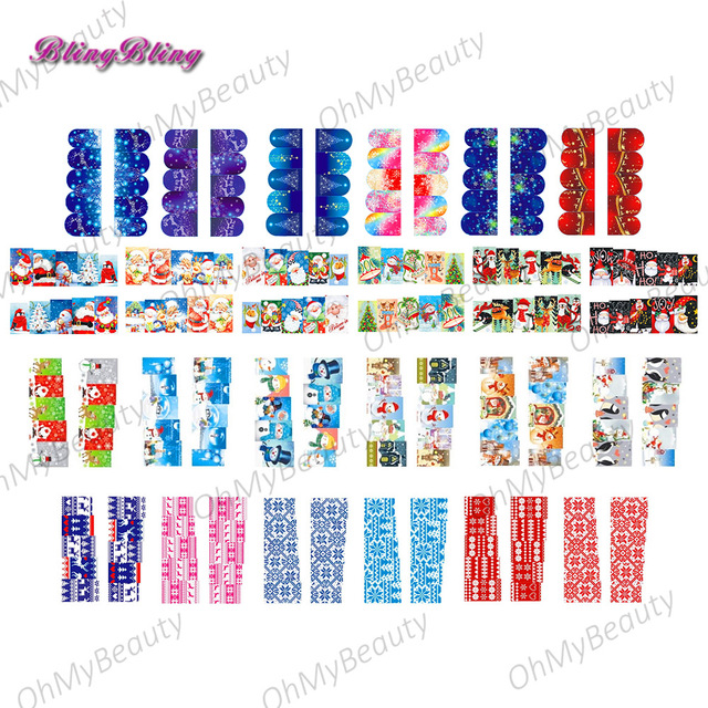 Nail Art Christmas Water Decals