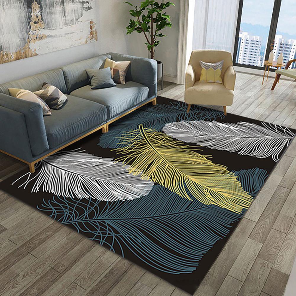 Nouveauté tapis à motif de plumes tapis antidérapant tapis de salon tapis de sol tapis de maison tapis pour tapis de sol de salon