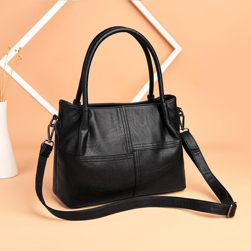Caliente 2019 nuevos bolsos de moda para mujer bolso Casual de alta calidad bolsos de hombro para mujer bolsos de mensajero Aotian-in Bolsos de hombro from Maletas y bolsas    1