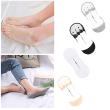 Socks 2018 Womens Lace Low Cut Antiskid Invisible Liner Female Elastic Summer Spring Ankle Boat