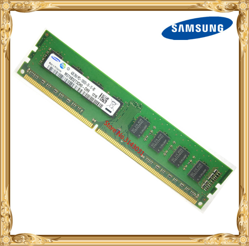 Samsung mémoire De Bureau DDR3 4 gb 1333 mhz 4g PC3-10600U PC RAM d'origine 10600