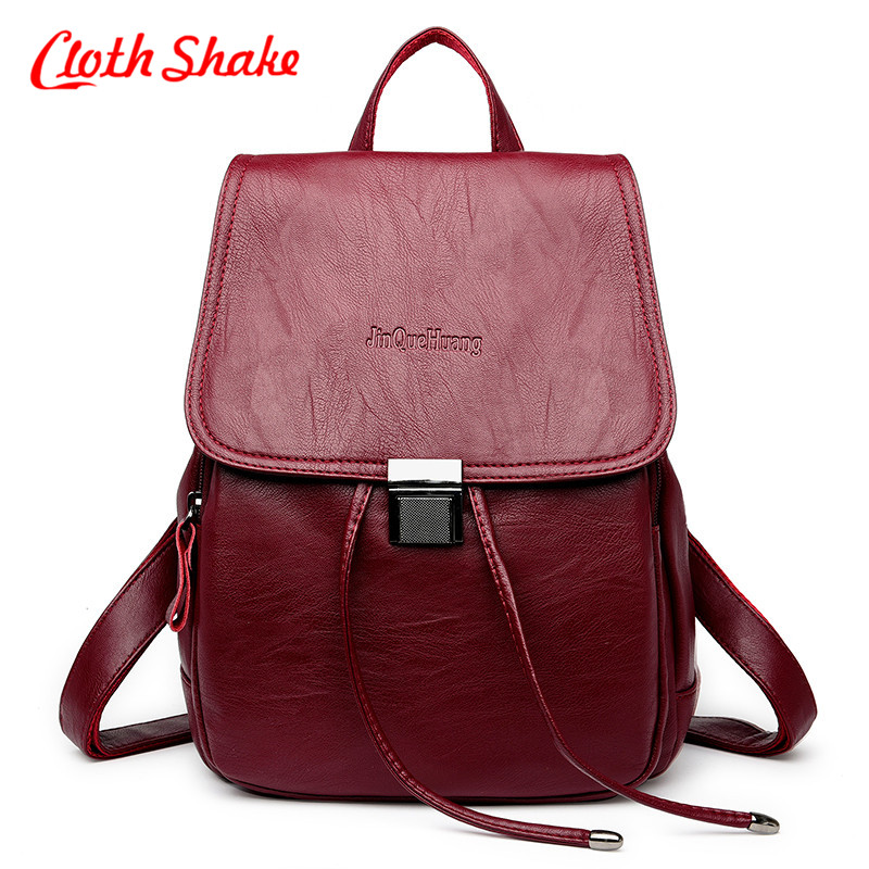 Newest Women Backpack High Quality PU Leather Mochila Escolar School Bag For Teenagesr Girls Top-handle Backpacks Herald Fashion drawstring pu leather backpack small school women bag top handle lock girl backpack new arrivals herald fashion mochila feminina