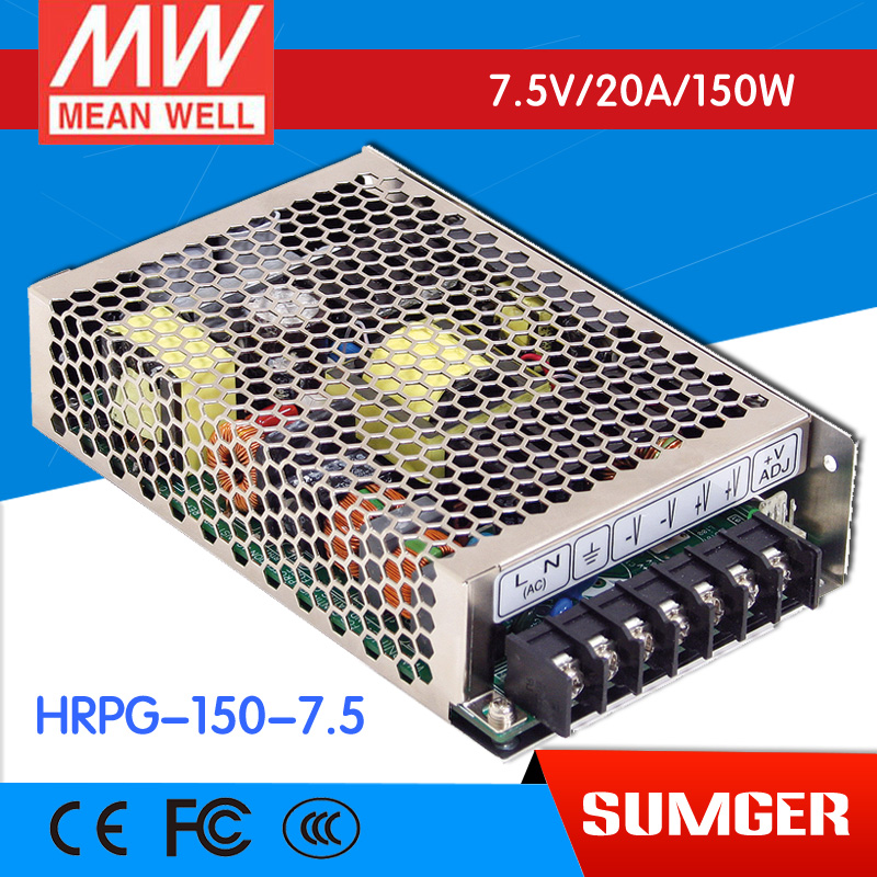 [CB]MEAN WELL original HRPG-150-7.5 3Pcs 7.5V 20A meanwell HRPG-150 7.5V 150W Single Output with PFC Function  Power Supply advantages mean well hrpg 200 24 24v 8 4a meanwell hrpg 200 24v 201 6w single output with pfc function power supply [real1]