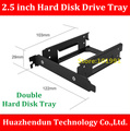 Free Shipping  1PCS   2.5 inch  Hard Disk Drive Tray   Aluminium Alloy  Material   Desktop PCI Double 2.5 inch hard disk Bracket