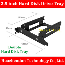 Free Shipping 1PCS 2 5 inch Hard Disk Drive Tray Aluminium Alloy Material Desktop PCI Double