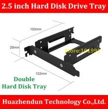 Free Shipping 1PCS 2.5 inch Hard Disk Drive Tray Aluminium Alloy Material Desktop PCI Double 2.5 inch hard disk Bracket