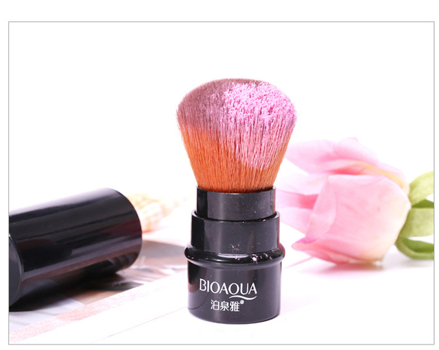 Bioaqua pinceau de maquillage rétractable visage doux brosse à poudre cosmétique grande forme lâche maquiagem pinceau de maquillage cosmétique professionnel