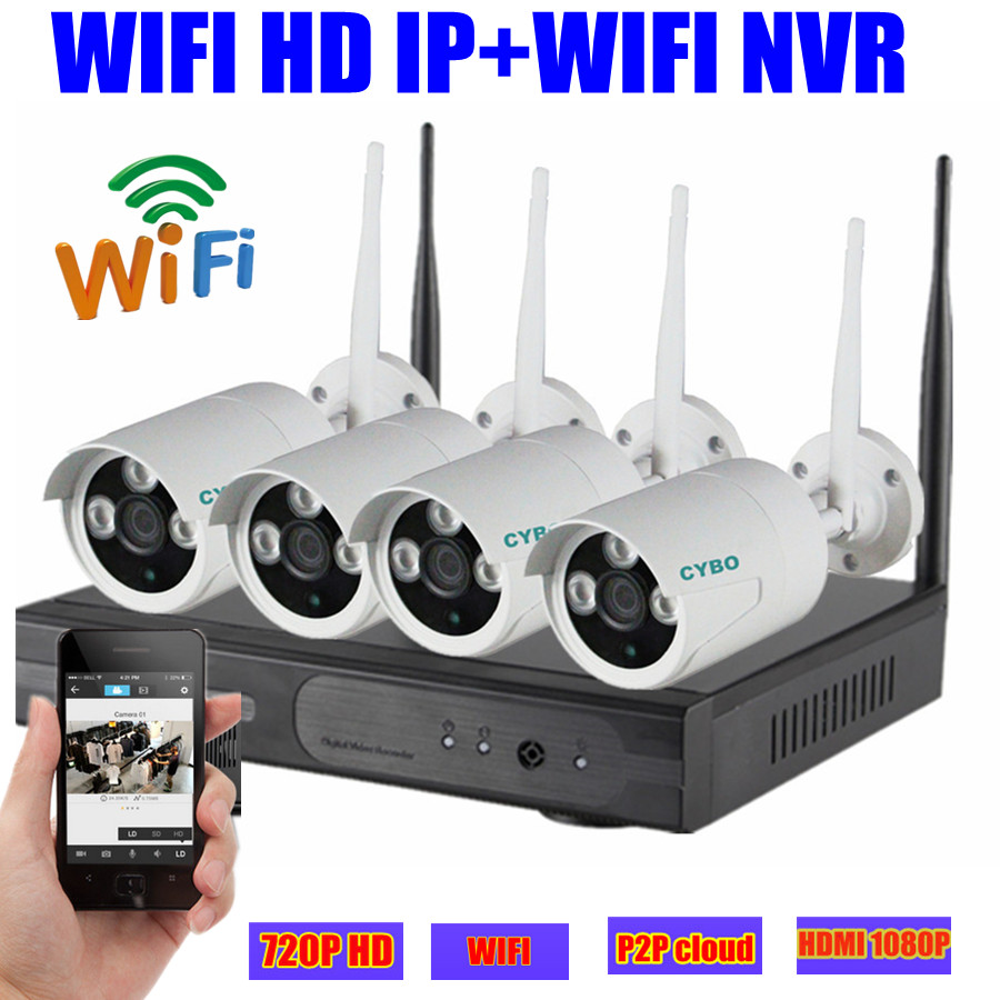 buy wireless cctv ip camera nvr network video recorder surveillance system 720p. Black Bedroom Furniture Sets. Home Design Ideas