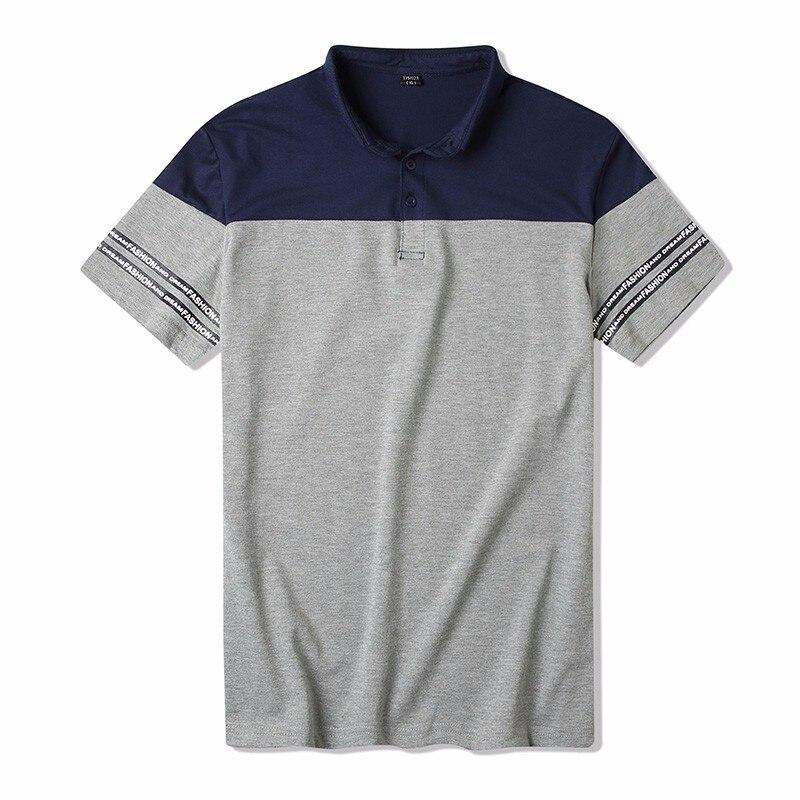 Männer Polo Shirt 2019 männer Kurzarm Polos Sommer Mode Patchwork Kleidung Casual Tops Weiß A121-S11