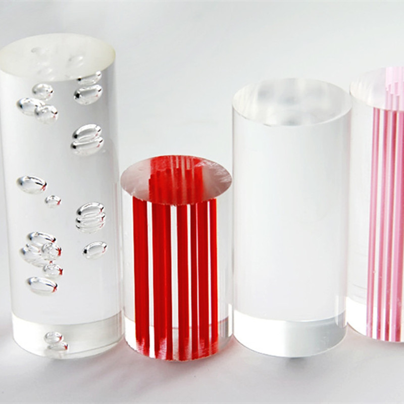 2pcs Acrylic Bubble Rod OD60x1000mm Extruded Plastic PMMA Bar Home Garden Decor Improvement Shower Curtain Poles