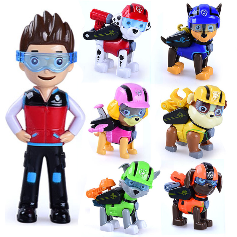 Paw Patrol Toys Puppy Dog Car Patrulla Canina Toys Anime Figurine Car Plastic Toy Action Figure Model Children Toys