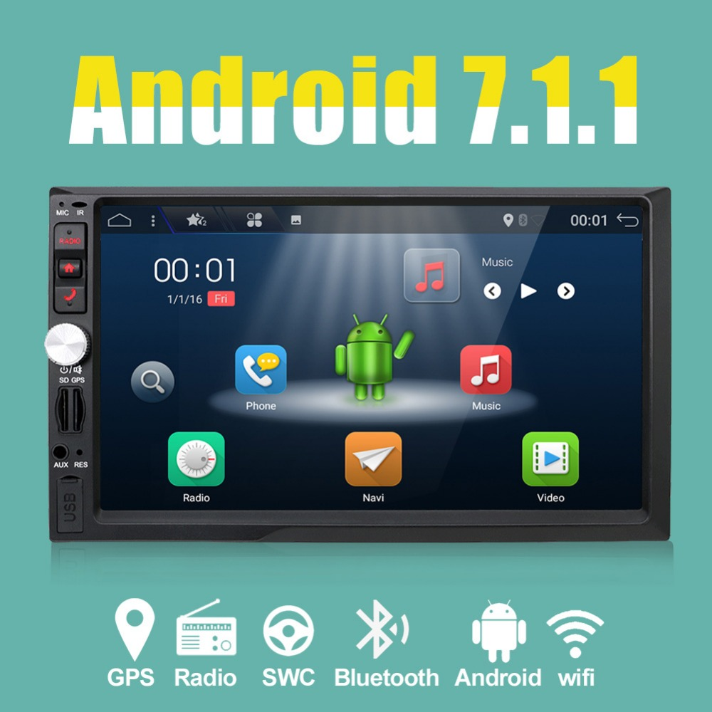 2 din android 7 1 car gps radio multimedia player fit for. Black Bedroom Furniture Sets. Home Design Ideas