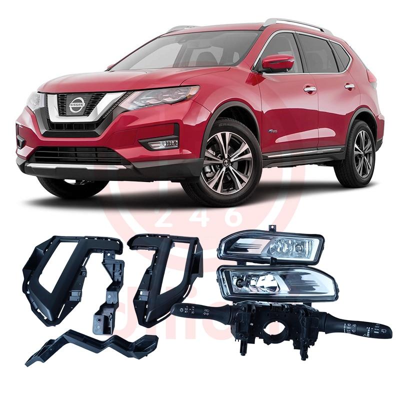 Ködlámpa-készlet és kombinált kapcsoló a Nissan Rogue X-Trail T32 x nyomvonalhoz 2017 2018 2019 SAE