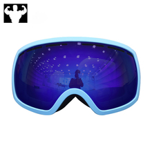 где купить Ski goggles double anti-fog outdoor snow climbing coke myopia anti-snow blind windproof men and women goggles ski glasses по лучшей цене