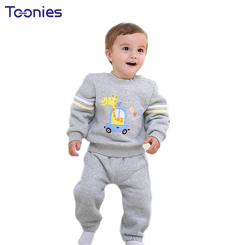 Cotton Baby Clothing Set 2018 Winter Thick Kids Pant Suits Cartoon Casual Infant Sportswear High Quality Child Christmas Costume jeans men s blue slim fit fashion denim pencil pant high quality hole brand youth pop male cotton casual trousers pant gent life