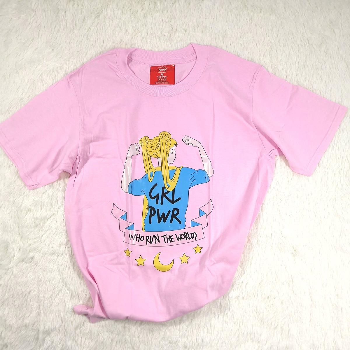 Hillbilly Japanischen Frauen T-shirt Sailor Moon Mädchen Power Lustiges t-shirt Sommer Top T Quadratische Element Kawaii Plus Größe T-shirt