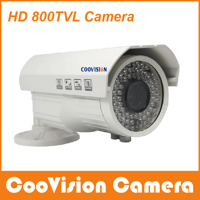 Free Shipping Coovision Outdoor IR CCTV Camera HD 800 TVL NO Color Cast at Daytime More Clear at Night, Good Camera, Good Choice