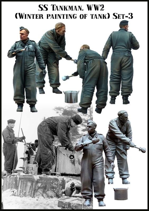 1:35 WWII German Tank Crews Paint Two