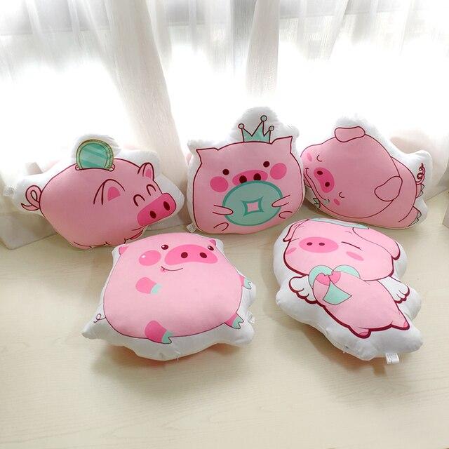 Adorável Pink Pig Padrão Travesseiro 3D Impressão Menina Dos Desenhos Animados do Quarto Decorativo Escritório Em Casa Travesseiro Confortável Almofada Travesseiro Presentes