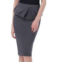 X L M XL Retro Women Vintage Bodycon Pencil Skirt 2017 New Style High Waist Slim