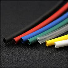 Tubes thermorétractables en Polyolefin, multicolores, 1, 1.5, 2, 2.5, 3, 3.5, 4, 4.5, 5, 5.5, 6, 7, 8, 9, 10mm, 2:1, 125C, 600V, 30M/pièces pièce
