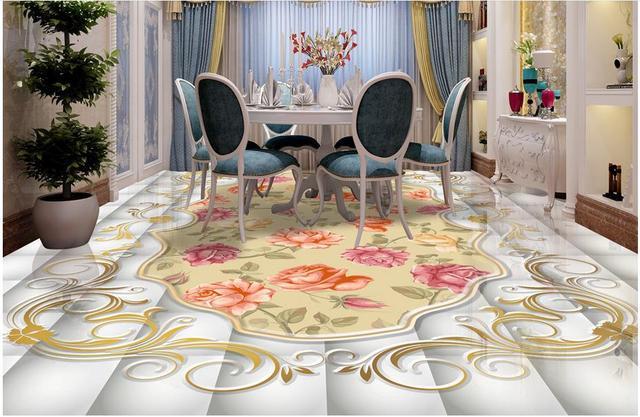D personalizzato pavimenti in mosaico di marmo texture wallpaper