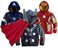 The Avengers Iron Man Niños de Los Hoodies de Las Muchachas Capa Del Resorte Del Otoño Niños de Manga Larga Casual Outwear la Ropa Del Bebé