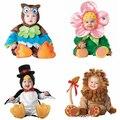 Ropa de los cabritos de Lana Conjunto Mameluco Del Bebé Muchachas de Los Monos Monos 2015 Invierno Cosplay Animal Shapes de Halloween Traje de la Navidad