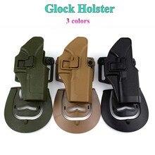 ФОТО Tactical Military Airsoft Pistol Waist Holster Hunting Shooting Gun Belt Holster Handguns Right Hand Glock 17 19 22 23 31 32