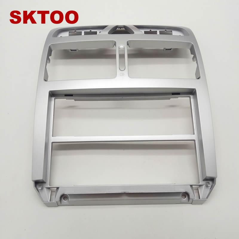 SKTOO pour Peugeot 307 d'origine argent instrument center sortie d'air panneau central table D'instruments cadre décoratif