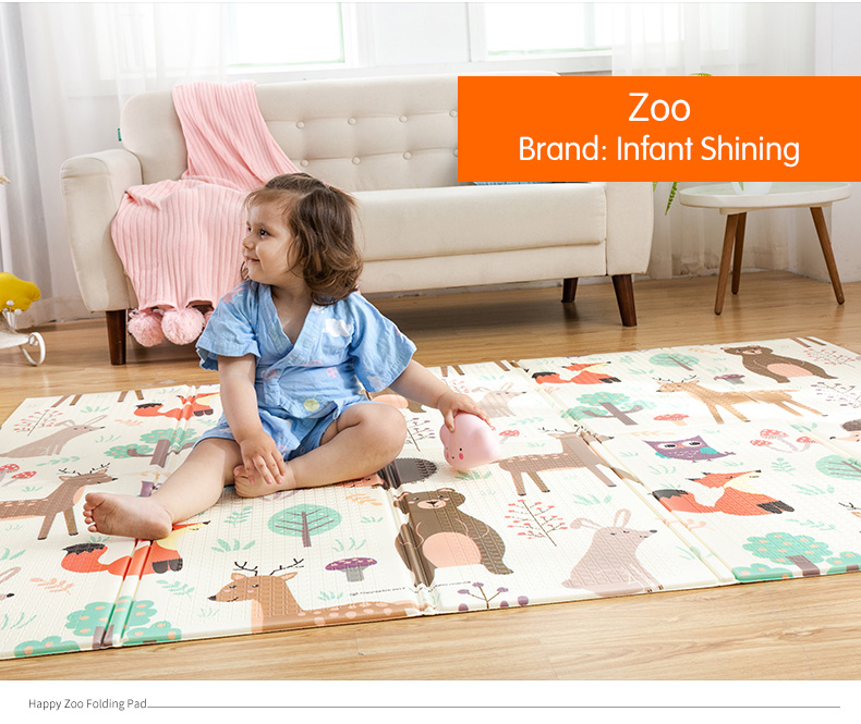 HTB19g5Ocv1H3KVjSZFHq6zKppXaD Infant Shining Baby Play Mat Xpe Puzzle Children's Mat Thickened Tapete Infantil Baby Room Crawling Pad Folding Mat Baby Carpet