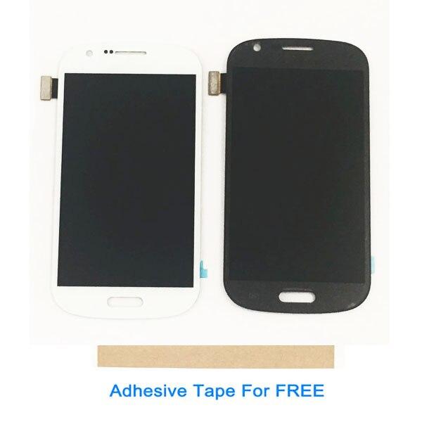 Color blanco gris para Samsung i8730 Galaxy Express pantalla LCD con Sensor táctil de cristal digitalizador montaje de alta calidad con cinta