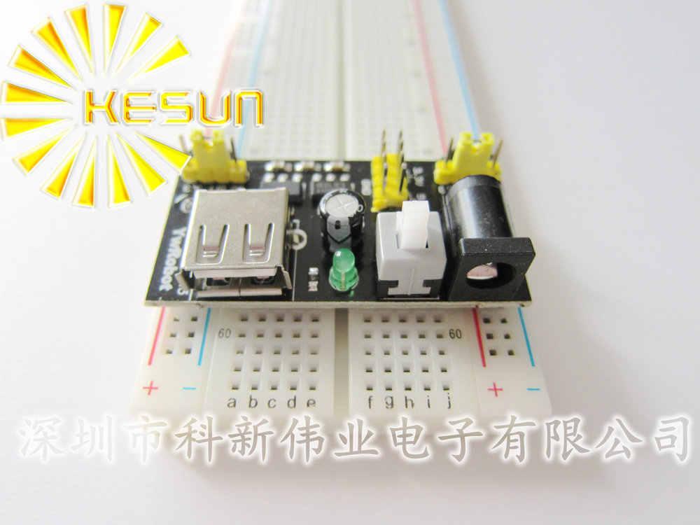 3.3 فولت/5 فولت mb102 اللوح حدة الطاقة + mb-830 نقاط لحام الخبز مجلس النموذج كيت + 65 مرنة الأسلاك العبور