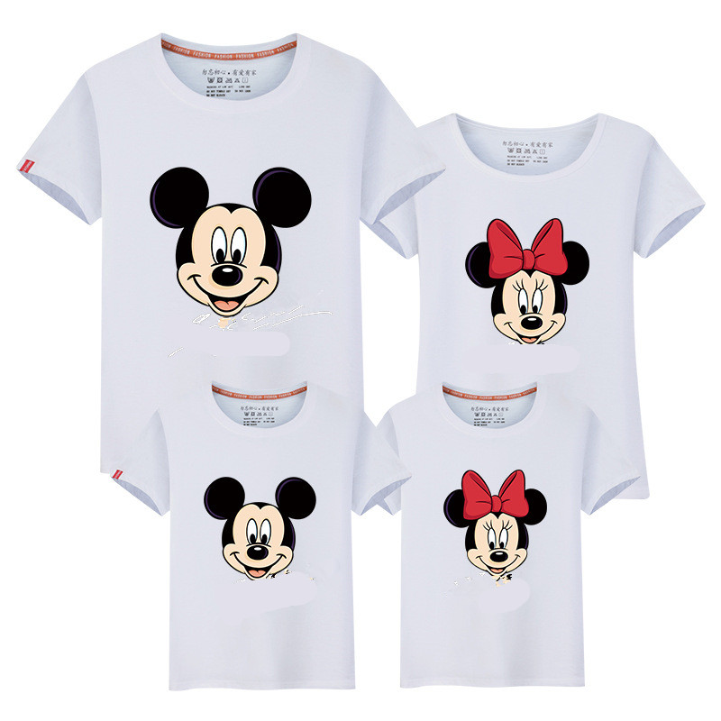 Family Matching T shirts Quality Cotton Summer Style Mother and Daughter Father and Son Clothes Mommy