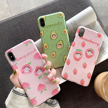 Pohiks Fashion Fruit Girl Back Cover Capa For iphone 6 6s 7 8 plus Soft Phone Case Coque  For iPhone XS Max XR X 6 7 8 Plus new iphone case for iphone 11 for iphone11 pro max 5 8 inches 6 1 inches 6 8 inches 6 6s 7 8 plus ix xr max x fashion back cover