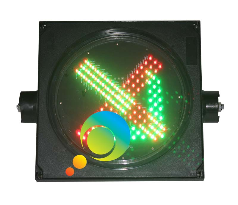 300MM toll station guidance traffic signal lights LED green arrow red cross light - 6