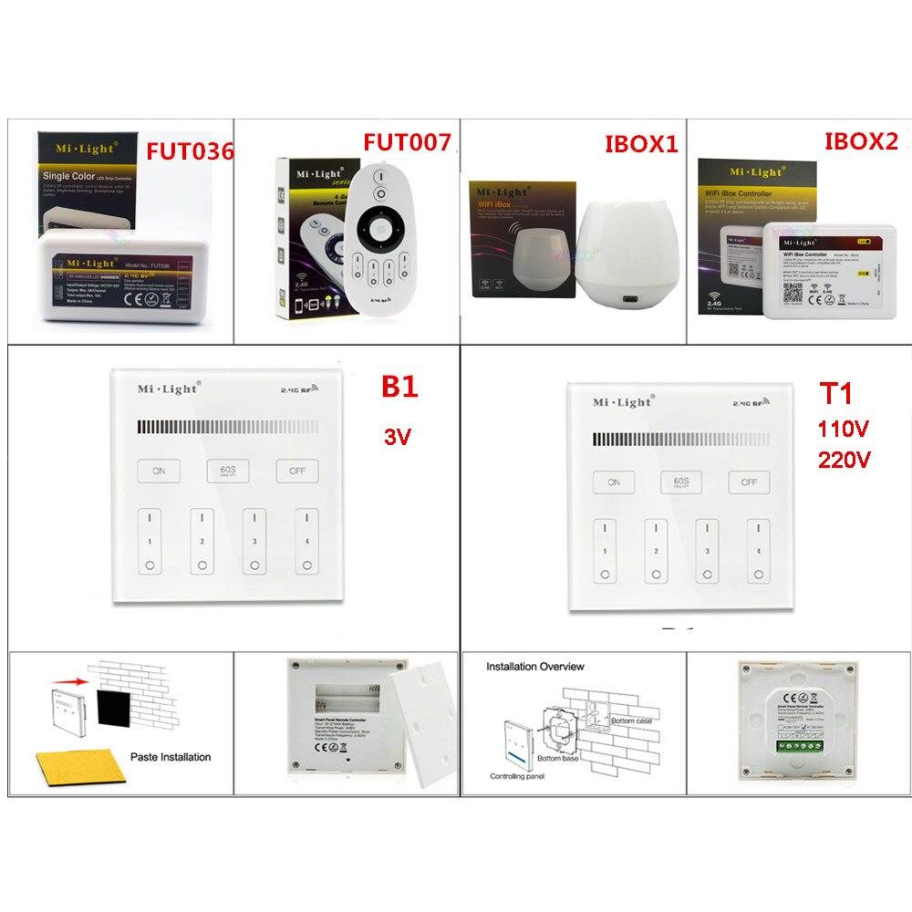 Milight Einzigen Farbe Fernbedienung 4-zone Helligkeit Smart Panel Wifi Ibox Smart Controller Für Led Streifen Fut036/ibox1 /ibox2/b1/t1 Dimmer Licht & Beleuchtung
