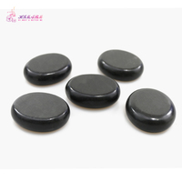 HIMABM 6*5*1.6cm 5PCS/ Pack SPA Hot Stone Massager Basalt Rocks Oval Shape Heat Massage Basalt Finger