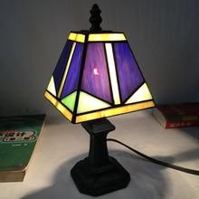hot sale tiffany colored glass retro bedroom lamp living room desk desk lamp led table lamp