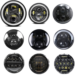 """Image 3 - 7"""" Headlight For Jeep Wrangler TJ JK 7 Inch Round LED Projector Headlights For Classic Mini Austin Rover For Hummer H1 H2"""