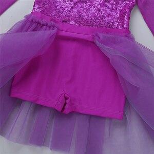Image 5 - Dzieci nastolatki cekiny występ na scenie liryczne kostiumy do tańca dzieci dziewczyny łyżwiarstwo figurowe baletowa spódniczka tutu trykot strój koronkowy
