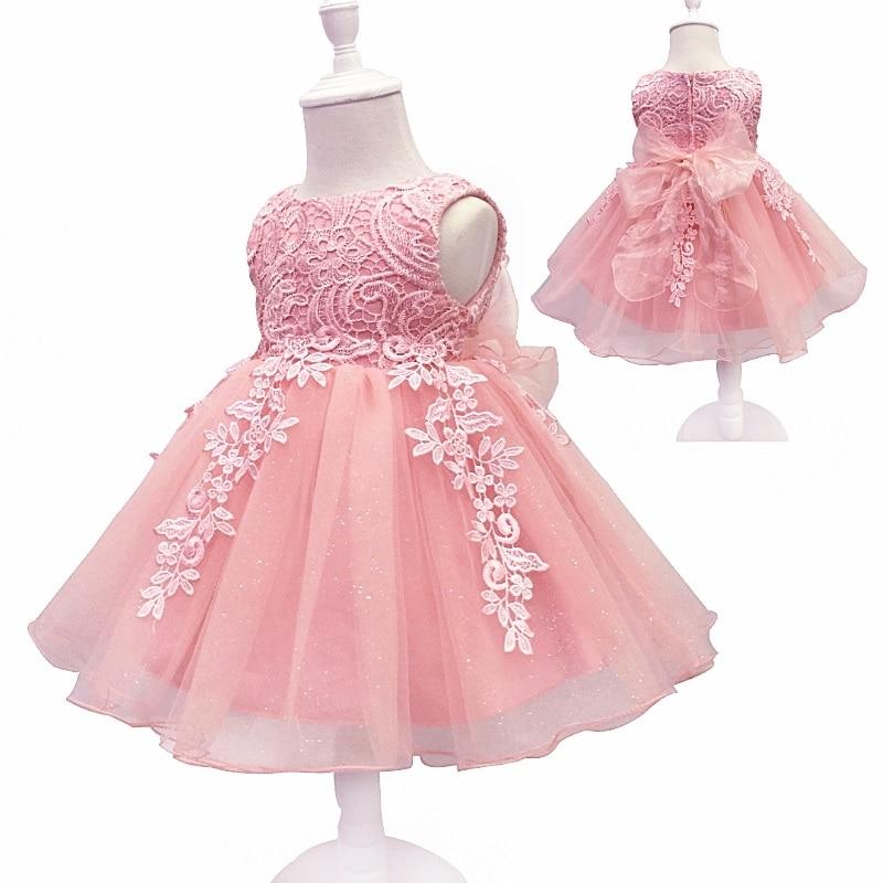 Envío libre 2 10 años Encaje party Girl dress 2018 nuevo diseño ...