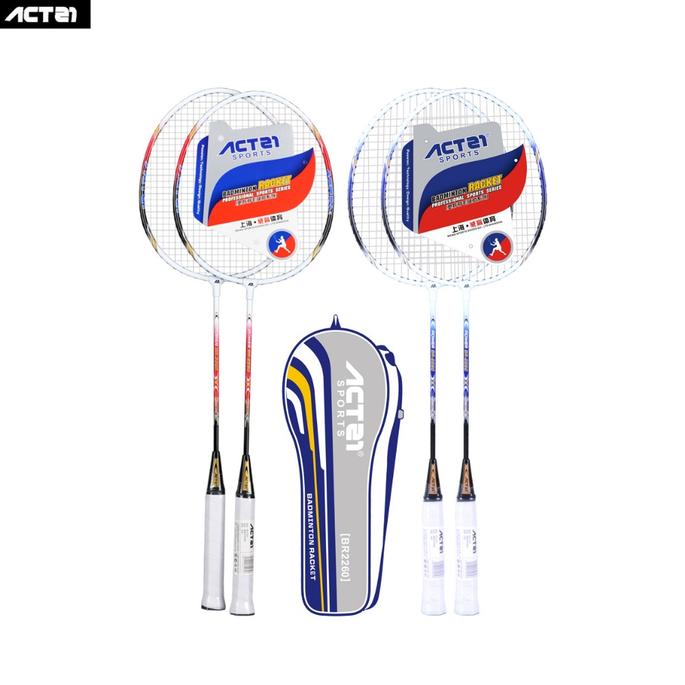 ACTEI BR2260  Single Iron Alloy Badminton Racket Training Competition Racquet With Bag