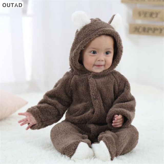 Baby Rompers Newborn Infant Baby Cartoon Cute Animal Shaped Romper Long-sleeved Jumpsuits Baby Clothes Hooded Cute Clothing Hot
